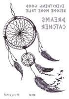 Wholesale Temporary Eye Tatoos - Wholesale- SC2704 Large 2D Sketch New Design Indian Tribe Designs Totem Sketch Dreams Body Art Temporary Tattoo Stickers Fake Big Tatoos