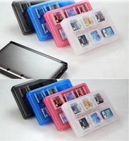 Wholesale nintendo 3ds cases - 28 in 1 3DS DSI DSXL Game Player Memory Card Storage Box for SD TF Stylus Box Case Container For Nintendo 3 DS XL LL Protective Boxes