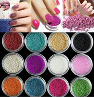 Wholesale Mini Pearls For Nails - Fashion Women Nail DIY 20g pack Acrylic Mini Pearl Tiny Beads For Tip Nail Art Design
