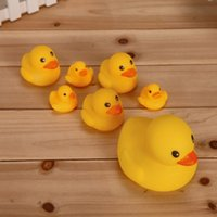 Wholesale Toy Yellow Soft Duck - Wholesale mini Rubber duck bath duck Pvc with sound Floating Duck 3pcs lot Fast delivery Free