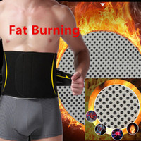 Wholesale Tummy Trimmer Belt Men - Belly Abdomen Fat Burner Belt Thermo Trimmer Posture Make Hot Waist Training Cincher Support Tummy Slimming Massage Body Shaper