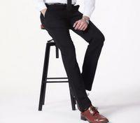 Wholesale Mens Fashion Suits Silver Grey - Wholesale-Mens Formal Dress Pants Fashion Men Grey Suit Pants Business Office Mens Formal Cotton Suit Trousers