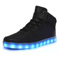 online Shopping Led Luminous Shoes - Led Shoes 8 Colors LED Luminous shoes Men Women Fashion Light UP LED Shoes for Adults HOT Basket Led
