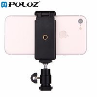 Wholesale Tripod Hot Shoe - PULUZ 1 4 inch Hot Shoe Tripod Head + Tripod Stand Clamp for All smartphones within 5.5cm - 8cm Width