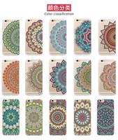 ingrosso copertina tribale iphone case-2016 Casse del telefono per iphone 7 / 7plus HENNA DREAM CATCHER Fiori tribali etnici dipinti TPU copertura in silicone Capa