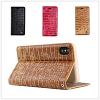 Wholesale Wallet Cover Iphone Snake - Crocodile Wallet Case Leather Pouch Case For Iphone X I7 PLUS 6 6S Samsung S8 Snake Stand Card Skin Cover Top quality