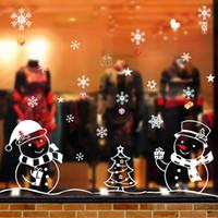 ingrosso autoadesivo interno della parete-Rimovibile Snowflakes Sticker Xmas Home Decor Wall Stickers Window Wall Car Indoor Outdoor Decor 3 Style
