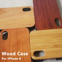 Wholesale Iphone Wood Plastic Case - Bamboo Handmade For iPhone 7 Wood TPU Case Wooden Cover For iphone x 6 Samsung S8 Plus S7 Edge S6 Case DHL Free