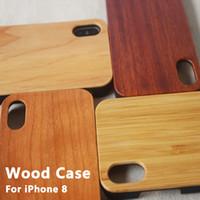 étui iphone plus en bois achat en gros de-Bambou Handmade Pour iPhone X Bois + Silicone Case Housse En Bois Pour iPhone 7/8 Plus XS Max Coque Samsung Galaxy S8 S9 Plus
