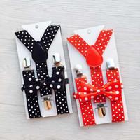 filles mis ceinture achat en gros de-Enfants style garçons Cravate ensembles de cravate NOUVEAU Bow Tie ceinture pour garçons filles enfants cadeau de Noël C2875