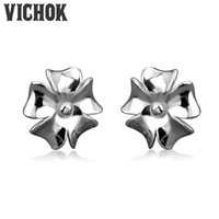 Wholesale 925 Sun Earrings - 100% 925 Sterling Silver Sun Flower Stud Earrings Simple Style New Design Female Jewelry Fashion For Engagement Anniversary Party VICHOK