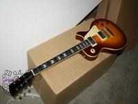 am besten verkaufte e-gitarren großhandel-Neuestes kundenspezifisches gelbes verbindliches Großhandelsbug-E-Gitarre-Ebenholzgriffbrett Bester Verkauf