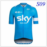 Wholesale Red Bicycle Fabric - 2016 tour DE France PRO TEAM Short sleeve cycling jersey tight fit cut High quality fabric bicycle wear for man or woman