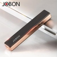 Wholesale Electronic Gifts For Men - 2016 New Arrival Usb Charging State In Ultra-thin Windproof Metal Lighters Electronic Lighter For Men And Women Fashion Gift Jobon