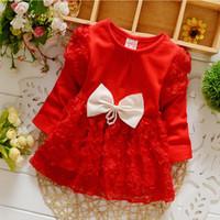 Wholesale T Shirt Mini Skirt - baby christmas dress kid's clothing Autumn Winter Girls' Dresses Baby kids Flowers Mini dress T-shirt skirt Suitable Ages 3-18 Months