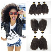 brazilian afro kıvırcık saç toptan satış-Brezilyalı afro kinky kıvırcık Saç demetleri işlenmemiş curl İnsan saç atkı ucuz örgü G-EASY hızlı teslimat