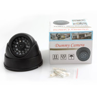 Wholesale dummy domes online - Dummy Fake Simulation Dome Security cctv Camera with False IR LED Red Activity LED Light CCT_705