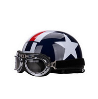 Wholesale New Helmet Summer - 2016 New half face motorcycle helmet Summer sunscreen UV electric bicycle motorbike Harley style helmet ABS FREE SIZE