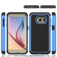 Wholesale Galaxy S3 Layer - Dual Layer Heavy Duty Rugged Protection Hybrid Combo Case For Samsung Galaxy S3 S4 S5 S6 S7 Edge Plus Cover Skin Shell Shockproof