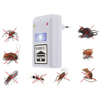 Wholesale Electronic Ant Repeller - Brand new EU Electronic Ultrasonic Mouse insect Roach Ant Spider Flea Repellent Mosquito Cockroach Repeller Rodent Pest Bug YH048
