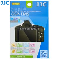 Wholesale Om D - Wholesale-JJC Anti-Bubble Anti-scratch Anti-burst Anti-fingerprint Ultrathin Optical Tempered Glass Screen Protector For OLYMPUS OM-D E-M5