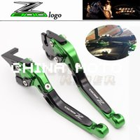 Wholesale Motorbike Levers - New Green Motorcycle Adjustable CNC Aluminum Brakes Clutch Levers Set Motorbike brake fits for Kawasaki Z800 E version 2013 2014 2015