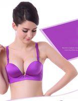 f454dedfe81 MOXIAN beautiful Girls underwear Fashion sexy bra One Piece deep V bras  gather bra body sculpting Shoulder strap size 32-38 A B C cup 248A