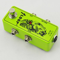 looper switcher venda por atacado-True-Bypass Looper Efeito Pedal Guitarra Efeito Pedal Looper Switcher true bypass guitarra pedal Mini Green Loop switch