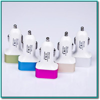 Wholesale Apple Input - colorful 12V 24V input three usb travel adapter car plug 1+2.1A charger for smart phone ipad without package