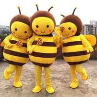 Wholesale Movie Cartoon Mascot - Lovely Bee Cartoon Mascot Clothing Bee Mascot Costume Honeybee Cartoon Clothing Adult Size for Activity Props Party Dress Cartoon Characters