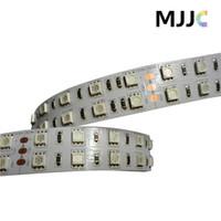 tiras de luz led púrpura impermeable al por mayor-12v 24V DC 120LEDs / M SMD 5050 Tira de luz LED no impermeable IP65 IP67 Rosa, Púrpura, Rojo, Amarillo, Azul, Verde, Blanco, Blanco cálido