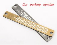 Wholesale Stickers Telephone - 15*2cm Telephone car parking number Number Card Temporary Car Parking Card Notification Night Luminous Sucker Plate Phone Number Card