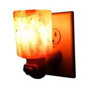 Wholesale Wholesale Decorative Night Lights - Natural Himalayan Salt Night Light Decorative Air Purifier Wall Lamp Cylinder Light Nursery Lamp Cylinder Natural Crystal Lamp US EU AU UK