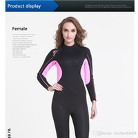 Wholesale Neoprene Swimming - Neoprene Warm Long Sleeve Scuba Diving Wetsuit The Thickening Jellyfish Garments For Spear Fishing Snorkeling Swimming