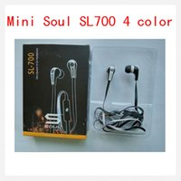Wholesale Soul Headphones Mini - Newest Mini Soul SL700 Soul By Ludacris Ear Earphone Headset Headphone With Mic For Apple Ipod Iphone Android phone with retail package