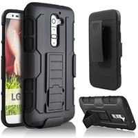 Wholesale Lg Smartphone Covers - Armor Smartphone Case For LG G2 G3 G4 G5 K4 VS425 K5 K6 X Power K7 K10 V10 Impact Heavy Duty Dual Layers Locking Belt Clip Kickstand Cover