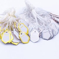 Wholesale Label Tie String Price Display Tags - 500pcs Free Shipping Star Label Tie String Price Display Tags,Jewelry Display Silver and gold