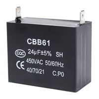 Wholesale Price Listing - Wholesale- 2017 New Arrival Lowest Price Durable in use Capacitor 24uF 24MFD 450V AC CBB61 Fits 400 350 300 250VAC UL RU Listed Brand new