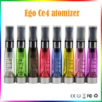 Wholesale Ce4 Free Shipping - ego ce4 atomizer ce4 clearomizer 510 thread 1.6ml long wick electronic cigarettes cartomizer ce4 fit for ego t evod vision Free shipping
