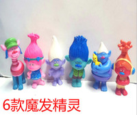 Wholesale minifigures toys for sale - Group buy 6 Style Trolls Poppy Branch Action Figure toys Children cartoon Poppy Biggie PVC minifigures toys cm Dolls set B
