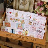 enveloppe des enfants achat en gros de-Mini cartes de fête heureuse faites à la main avec l'enveloppe, les petites cartes de voeux pour enfants mignonnes