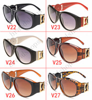 Wholesale Wholesale Shades Round Lens - Wholesale High quality Luxury vintage brand designer shades fashion oversize sunglasses for women men glasses with original Zipper cas