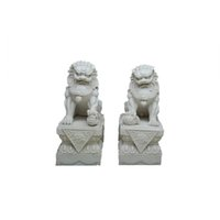palace beijing - Chinese Lion Sculpture Crafts Pair Feng Shu Ornament Beijing Palace Outdoor Decoration Sculpture Crafts with Resin