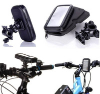 Wholesale Dirt Bike Plastic - Universal Waterproof Rotatable Bicycle Bike Handlebar Mount Holder Bracket Bag Case For Samsung S6 S7 Edge iPhone 6 6S Plus HTC Sony Huawei
