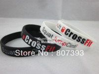 Wholesale Design Custom Silicone Wristbands - Squat Jump Climb Throw Lift CrossFit Cross Fit 2colours Wristband Bracelet,custom design,debossed,100pcs lot,free shipping bracelet free ...
