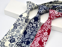 Wholesale Men S Tie Wholesalers - Men 's Ties Cotton Print Europe and the United States fashion style Korean casual tie wedding tie groom groomsman tie