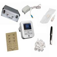 Wholesale Digital Eyebrow Tattoo - Newest Tattoo Machines Digital Intelligent Permanent Makeup eyebrow lip machine Kit swiss motor gun + power supply + needles