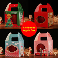 80 x Christmas Series Gift Box Splendidamente piegato Colorful Christmas Apple Box Christmas Stocking Ornaments Party Paper Favor