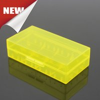 Wholesale Carry Case Wholesaler - In Stock Portable Carrying Box 18650 Battery Case Storage Acrylic Box Colorful Plastic Safety Box For 18650 Battery And 16340 Battery