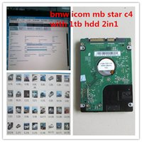 Wholesale Bmw Ista Software - 2017 newest mb star c4 for bmw icom a2 with 1tb hdd 2in1 system das xentry epc for bmw ista software